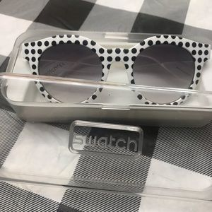 Swatch sunglasses polkadots open box